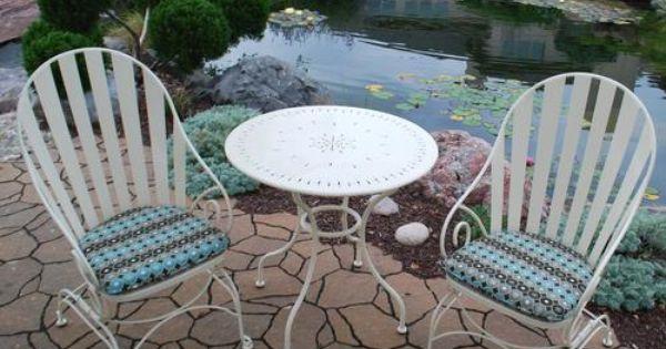 Backyard Creations 3 Piece Island Lake Bistro Collection At Menards Backyard Creations Backyard Outdoor Furniture Sets
