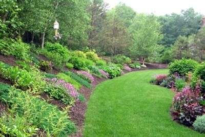 Sloped Yard Landscaping Backyard Hill Landscaping Large Backyard Landscaping Sloped Garden