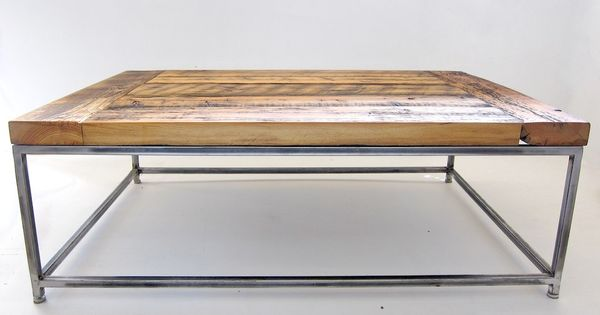 Minimalist Reclaimed Wood Coffee Table With An Industrial Metal Frame Ripley Coffee Table With
