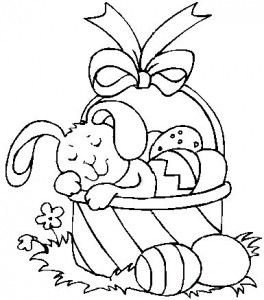 Easter Egg Basket Coloring Page Easter Coloring Sheets
