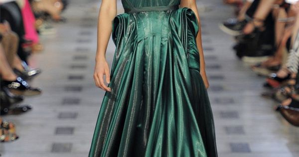 Emerald Gown / Zac Posen Spring 2012
