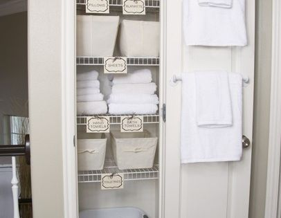 Guest Room Closet Labels Like The Idea Of A Laundry