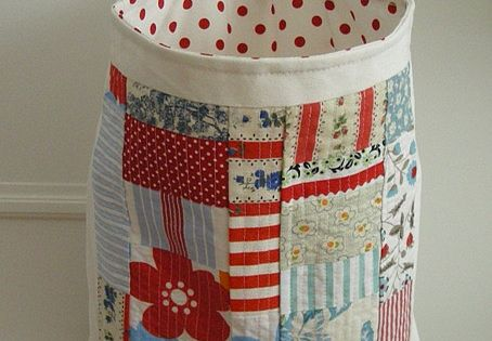Sewing bags - sentimental patchwork