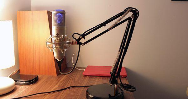 Ikea Hackers Adjustable Desktop Microphone Boom On A