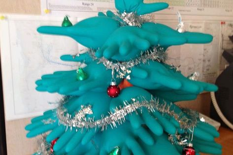 Medical Christmas Fun: Medical Glove Christmas Trees