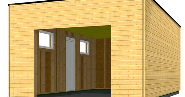 garage en bois type ossature bois en toit plat id es. Black Bedroom Furniture Sets. Home Design Ideas