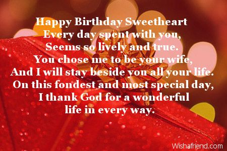 Happy Birthday Sweetheart Every Day Spent With You Seems So