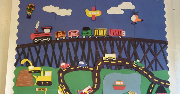Transportation Theme Bulletin Board Transportation