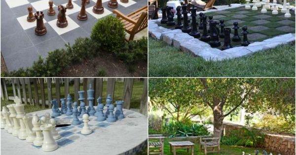 schach spiel im garten selber machen garteninspirationen pinterest schach spiel und. Black Bedroom Furniture Sets. Home Design Ideas