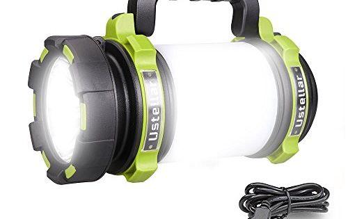 Ustellar Rechargeable Cree Led Torch 1000lm Waterproof Lantern Flashlight Led Camping Lantern Camping Lanterns