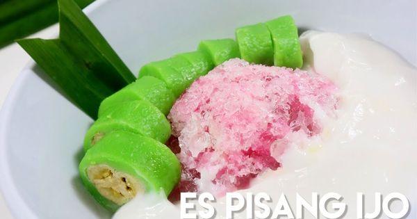 Es Pisang Ijo Segerr Banana Rice Cake Roll With Coconut Sauce And Banana Syrup Resep Recipe Resepespisangijo Bananaricecakerollreci Makanan Pisang Resep