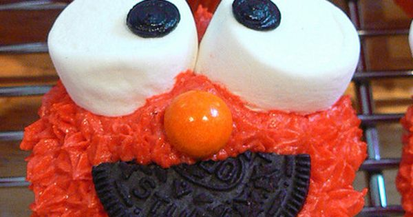 Elmo cupcakes! Made these and cookie monster ones for Jace's 2nd birthday!!