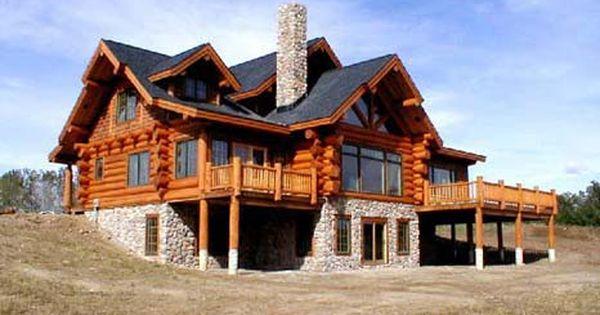 Beautiful log home walk out basement beautiful for Log cabin with walkout basement