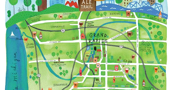 Beer City Ale Trail Beer Map 2014 Craft Beer