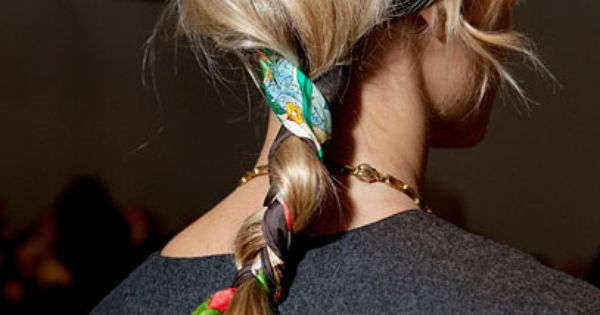 Instant Style: tie a scarf in your hair!