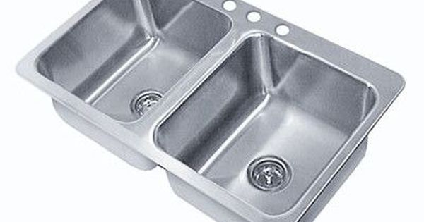 Advance Tabco Triple Seamless Bowl 3 Compartment Drop In Sink Size 10 H X 45 W X 21 D Drop In Sink Advance Tabco Sink