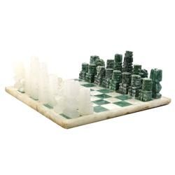 Hand Carved Mexican Onyx Chess Set Chess Set Hand Carved Chess Board