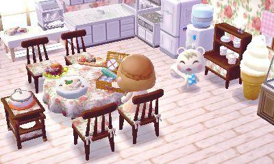 Indoor Light Colored Kitchen Animal Crossing Qr Animal Crossing Animal Crossing Wild World