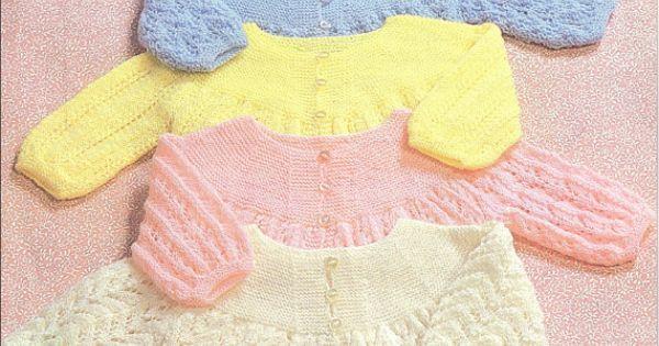 Vintage Pdf Baby Knitting Pattern Patons 7536 Matinee