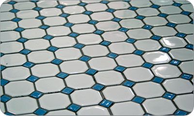Octagon And Dot Floor Tiles In 13 Color