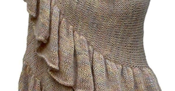 Knitting Knotty : Ruffled crescent shawl knitting pattern is
