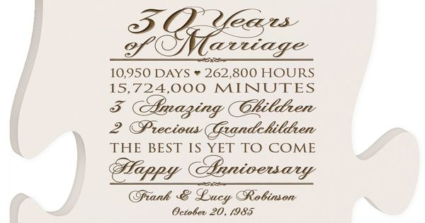 Personalized 30th Anniversary Gift For Him30th Wedding Anniversary Gift For HerSpecial Dates