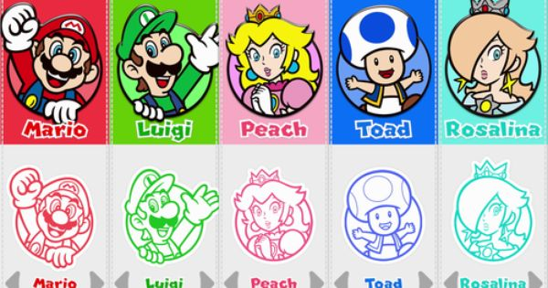 The Player Selection Screen In Super Mario 3d World On Wiiu After Rosalina Has Been Unlocked Check Out Mario And Luigi Super Coloring Pages Super Mario 3d