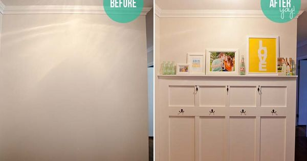 Great idea for a blank wall by the door