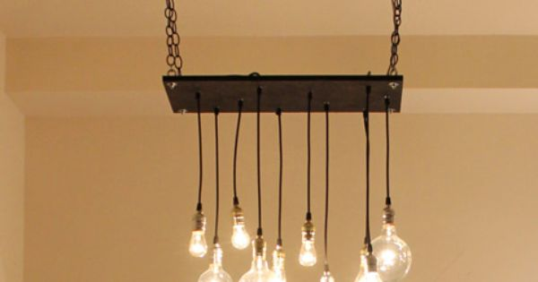 Urban Hanging Chandelier. There's gotta be a way to make this a