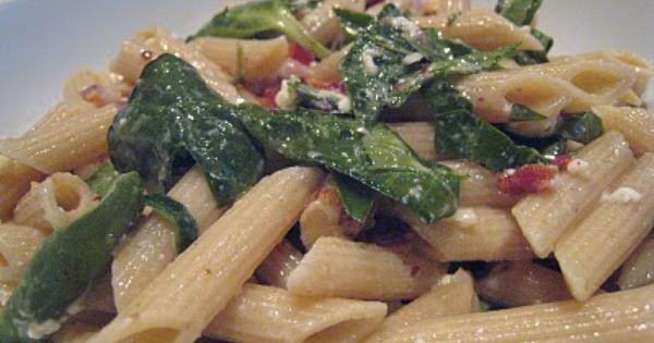 Whole wheat pasta, Penne and Spinach on Pinterest