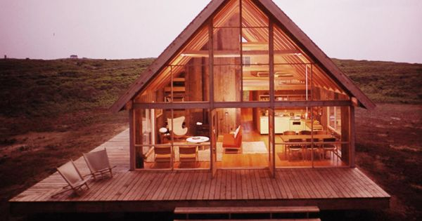 Jens risom s prefab weekend house kit homes and house for Weekend cabin floor plans