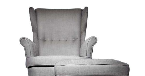Stocksund chair ljungen light red black wood for Reposapies oficina ikea