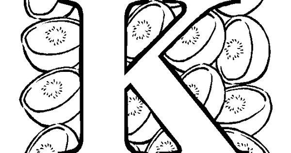 Coloriage lettres colorier alphabet fruit gratuit - Abecedaire a colorier ...