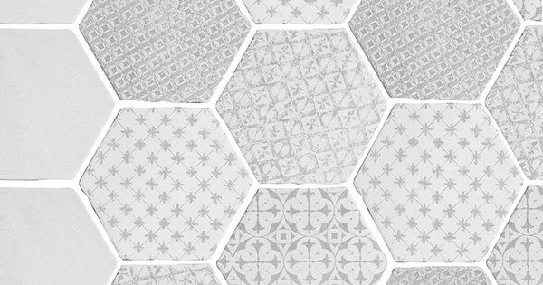 carrelage hexagonal mat gris 15 x 15 cm he0811012. Black Bedroom Furniture Sets. Home Design Ideas