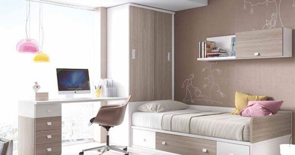 Juvenil con cama nido armario y escritorio novedades for Habitacion juvenil nina
