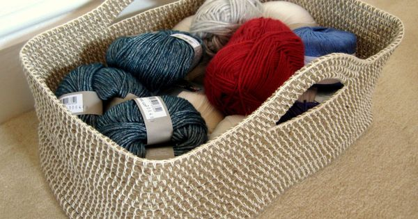 Customisable Crochet Basket - free crochet pattern by Esther Chandler. Made by