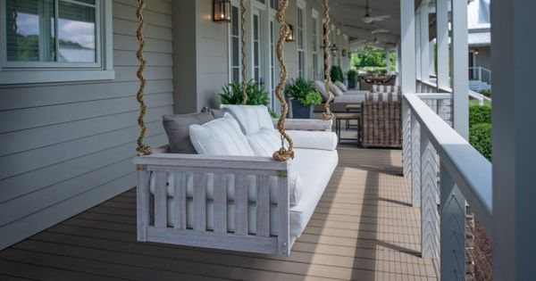 Southern living 39 s idea house at fontanel farmhouse chic for Farmhouse porch swing