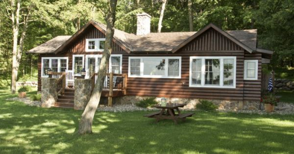 white trim on a cabin? For the Future Pinterest