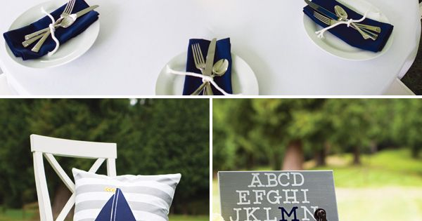 Hostess with the Mostess | Ahoy its a Boy Preppy Nautical Baby