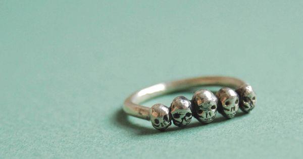 skull ring, size 9 $48