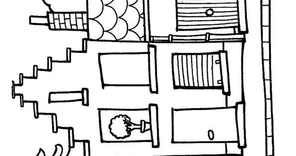 kleurplaat huis 7699 kleurplaten krijtstift