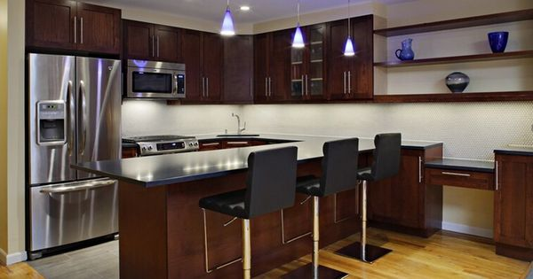 Interior Fascinating Brooklyn Italian Kitchen Cabinet Decoration With Fabulous Dark Brown Wood