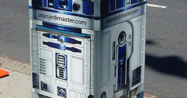 R2D2 mail box Street art