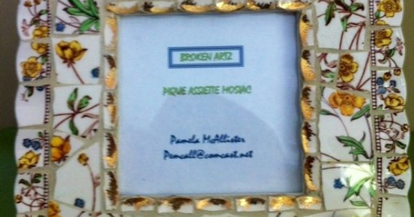 vintage spode china pique assiette mosaic picture frame. Black Bedroom Furniture Sets. Home Design Ideas