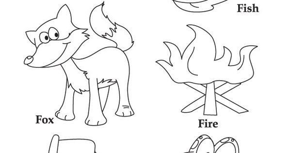 F for fish fox fire flag frog | Letter F | Pinterest ...