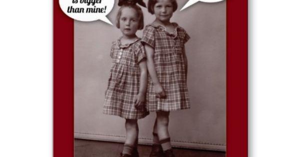 Funny Vintage 1920s Older Sister Birthday Card Sister