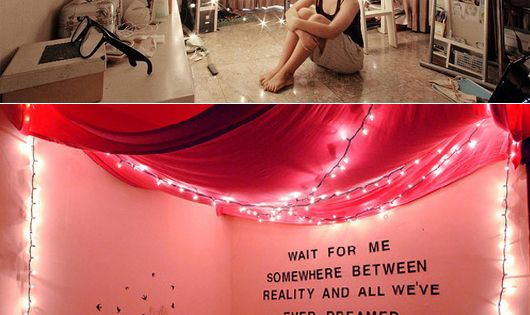 String lights - dorm room idea