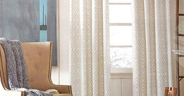 Tommy Hilfiger Diamond Lake Ivory Beige 2pc Window Curtain