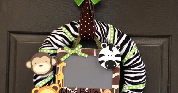 Safari Theme Wreath Nursery Or Classroom By