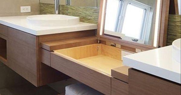 simple ideas that are borderline genius salle de bain pinterest rangement secret. Black Bedroom Furniture Sets. Home Design Ideas